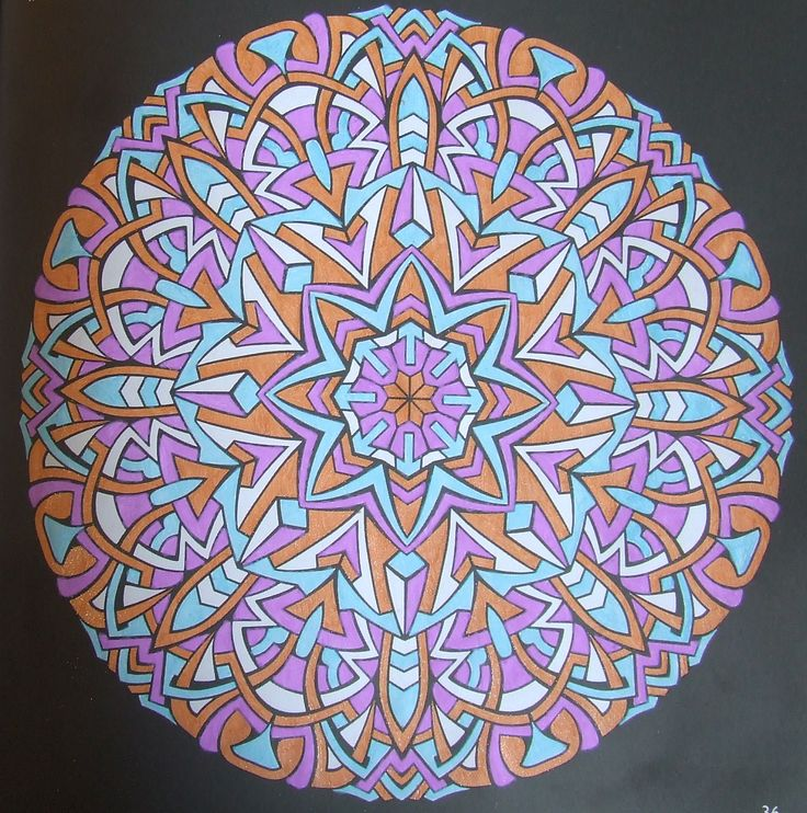 Kaleidoscopes 36 done with gelpens