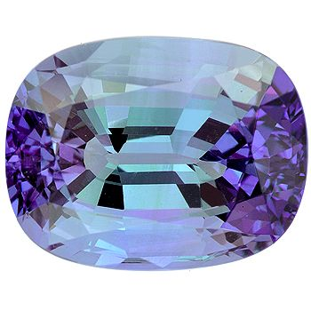 Natural Tanzanite Cushion Single l Multicolour.com