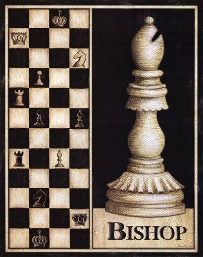 People never pay attention to all the meanings of Chess. It's not an accident that the Bishop stays right by the King and Queen. Leaders often seek out the Bishops for advice and keep them close together