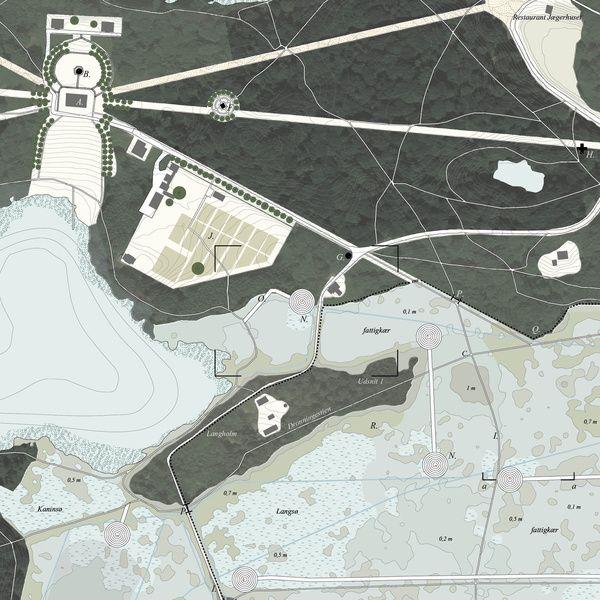 Ved Furesøens østlige bred ligger det romantiske have-anlæg Dronninggård. Området består af et gammelt skovareal med snoede stier i et bakket landskab, hvori nogle få monumenter er placeret. Op til