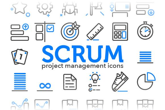 Scrum  Project Management Icons By Sarunw On Creative Market