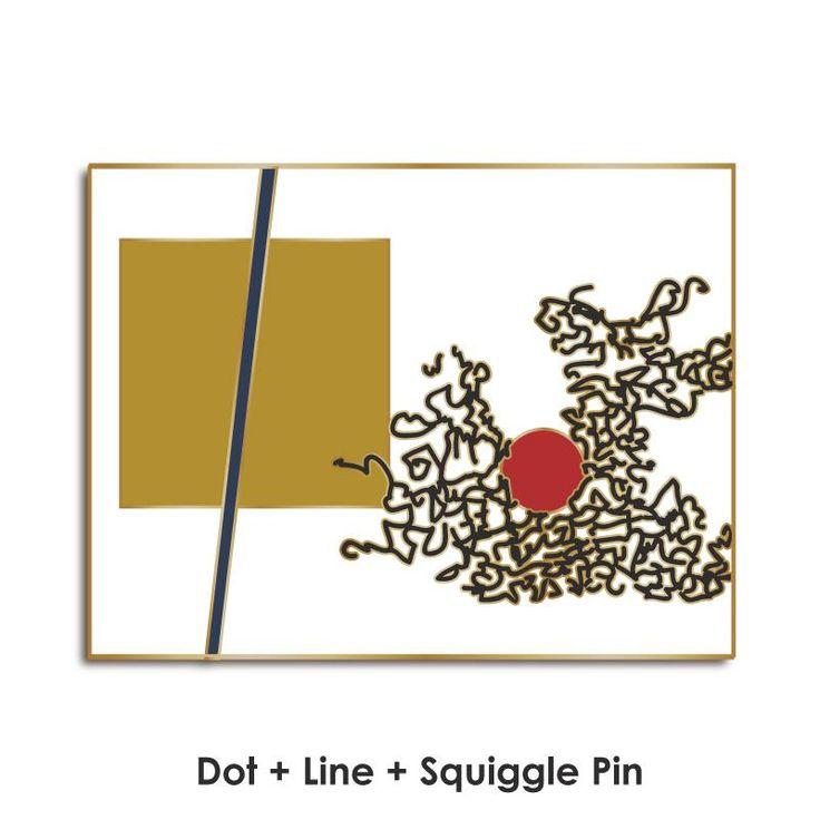 Dot + Line Still Frame Enamel Pin: Preorder