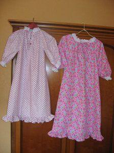 Une chemise de nuit de princesse pour fillettes 5 et 7 an s tuto