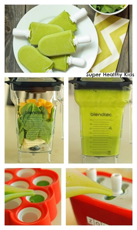 Healthy Popsicles for the kids.  This link includes the recipe.  They call them frog pops.
