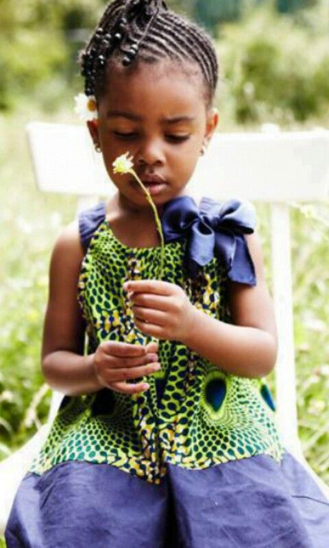 Cute Kitenge Dress For Girls Baby African Fashion