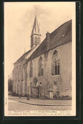 remarquable-CPA-Provins-le-Grand-Hotel-Dieu