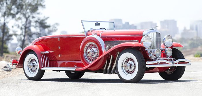 1930Duesenberg Model J Disappearing Top Convertible Coupe.