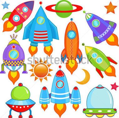 UNA Colección Colorida Y Linda Vector DE Nave Espacial Ufo DE Naves Espaciales, Cohetes, Aislado En Blanco vectores en stock - Clipart.me