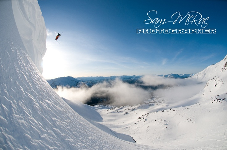 """The Godfather, Mike Douglas sent this huge, gold medal worthy, backflip off a huge cornice in the Blackcomb Mtn. backcountry. Whistler, BC, Canada. The 2010 Winter Olympics were taking place at lower elevations. Shot along side of Sherpas Cinema filming the award winning """"All I Can"""" ski film.  www.facebook.com/sammcraephotographer"""