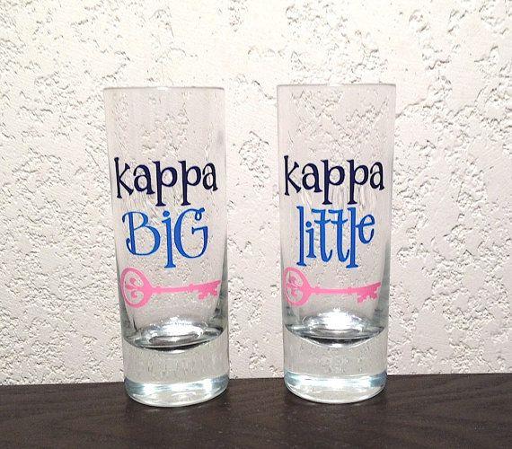 Kappa Kappa Gamma Big/Little Shot Glasses