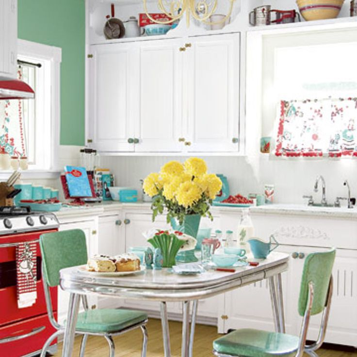 **Retro!  Love it** 6 Colorful Kitchens We Love