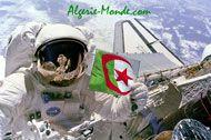 Photo humoristique d'un drapeau algérien dans l'espace