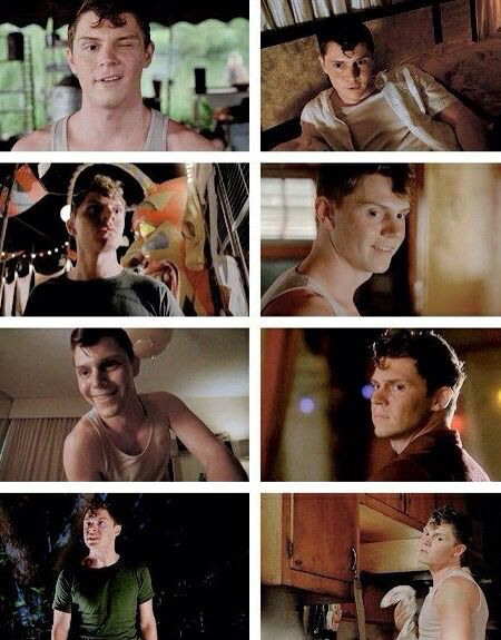 Evan Peters as Jimmy Darling in American Horror Story: Freak Show... beautiful, beautiful lobster clawed man!