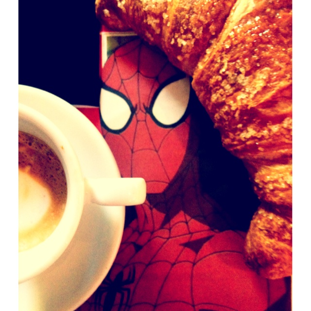 Breakfast with Spiderman <3