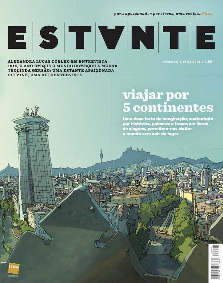 Revista Estante nº 2 - Viajar por 5 Continentes. Ilustração de Ricardo Cabral. Edição de Adagietto - http://www.adagietto.pt #revistaestante #ricardocabral #revistas #magazines