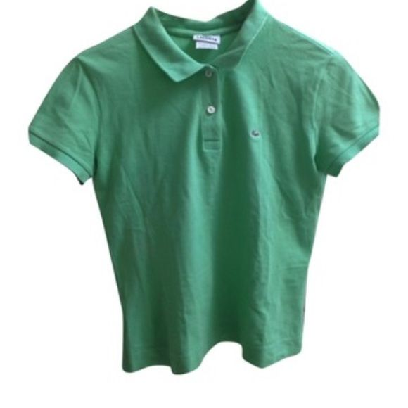 collared shirt green lacoste tops tees short sleeve more collared ...