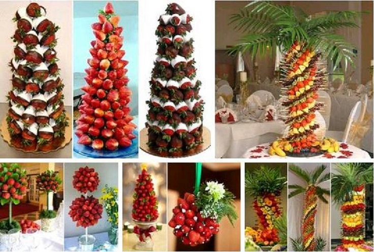 how to make a fruit tower