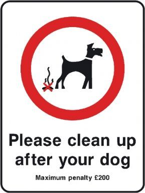 Please Clean up After Your Dog  Maximum Penalty 200 playground safety sign