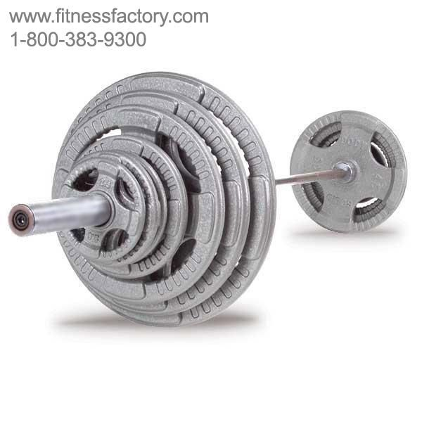 Olympic Steel Grip Weight Sets With Bar