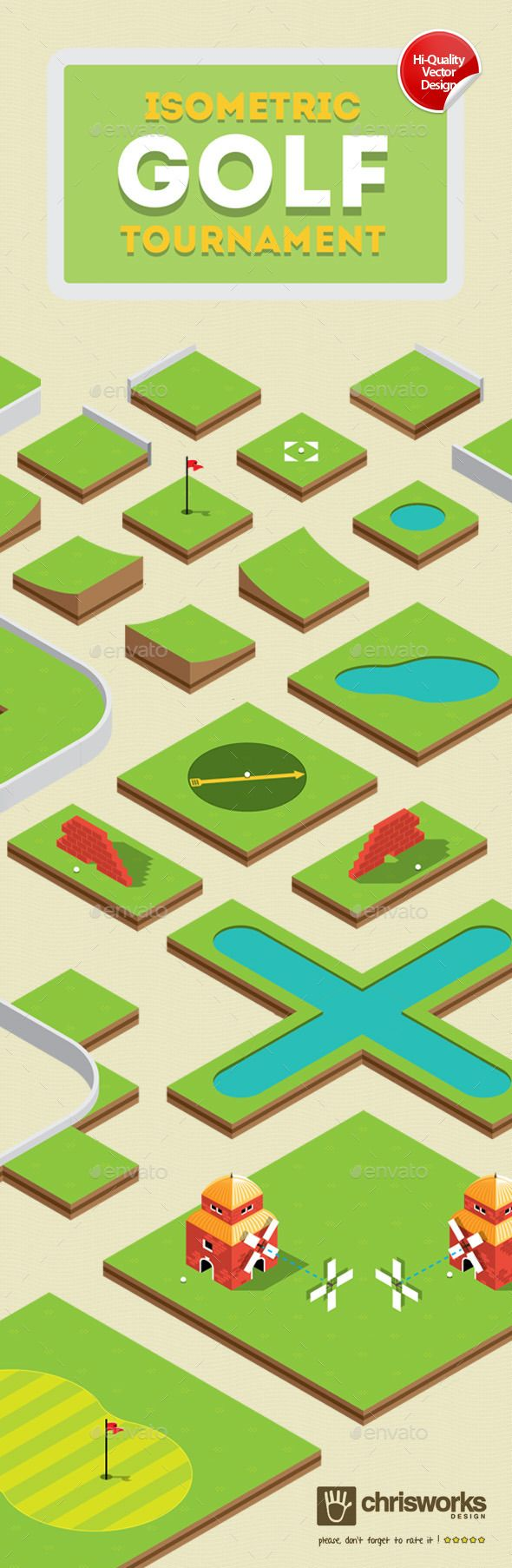 Isometric Golf Gamekit - Tilesets Game Assets