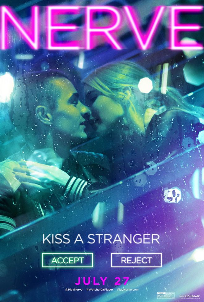 Nerve movie poster, best movie posters 2016, Kettle Fire Creative blog