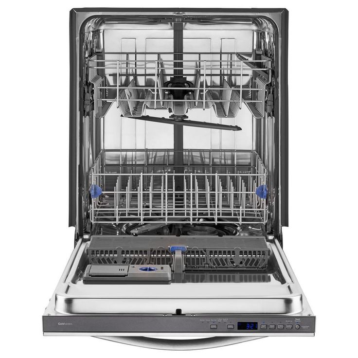 Shop Whirlpool Gold Built In Dishwasher (Monochromatic Stainless Steel)  (Common: Actual
