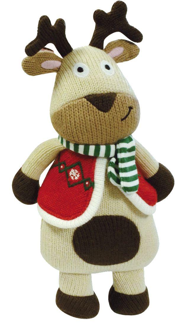 Rudolphe le renne des personnages de la Wooly Family par Latitude Enfant. Jouet ludique. Doudou d'éveil. Produit de puériculture.