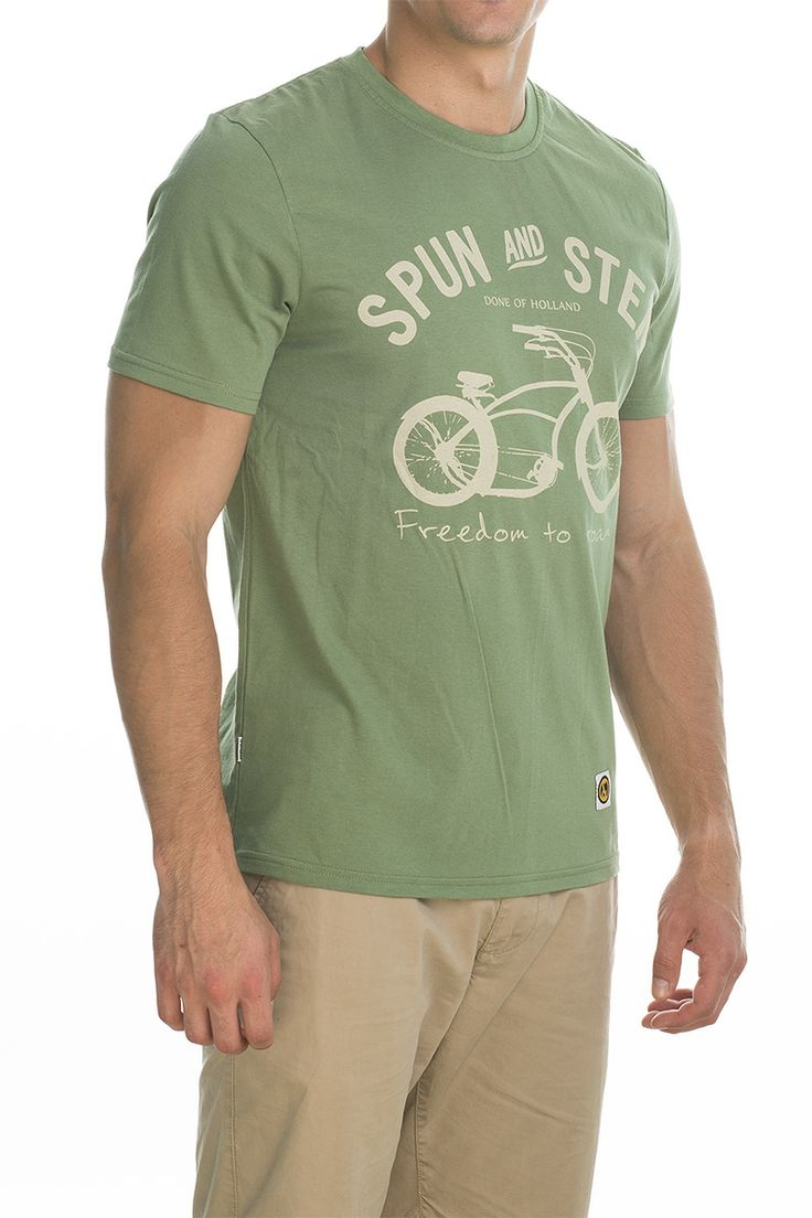 T-shirt Basman; light green.