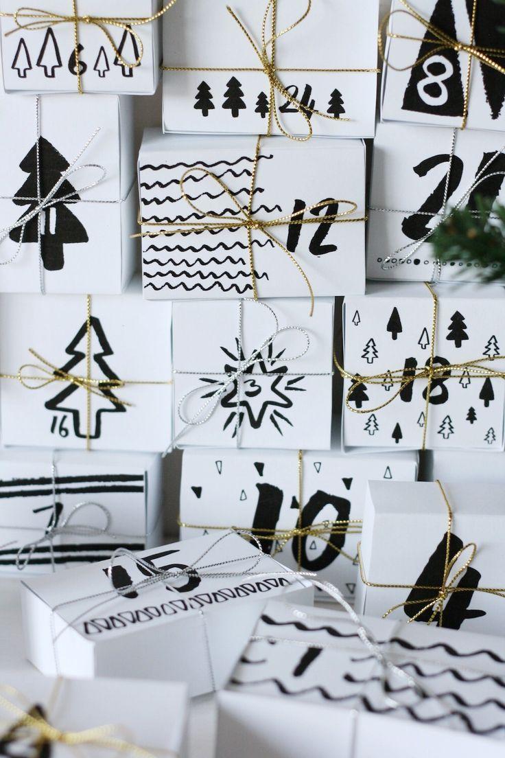 DIY advent calendar printable