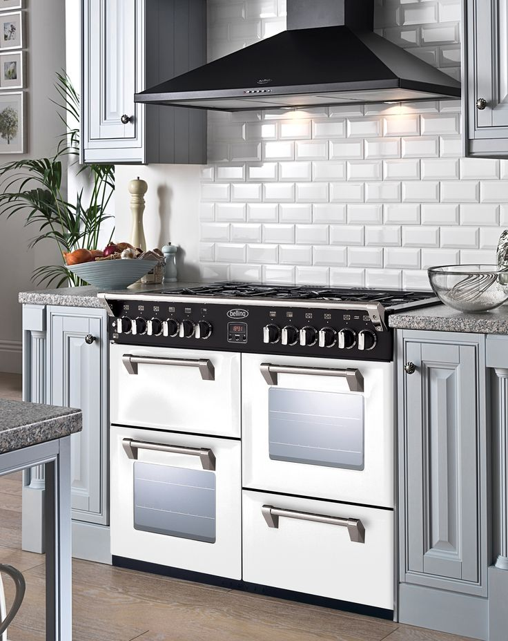 What Kitchen Design Will You Come Up With The White Richmond Range Cooker  From Belling. 1 Out Of 14 Different Custom Colours To Pour In Your Style At  Home.