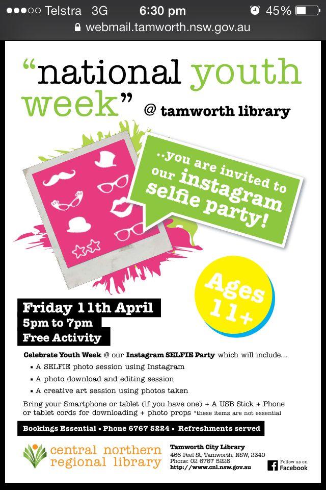 Youth week 2014 @ Tamworth library