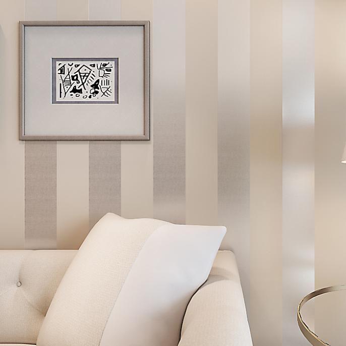 El nuevo no tejido flocado simple papel pintado con rayas de dormitorio de la sala de estudio