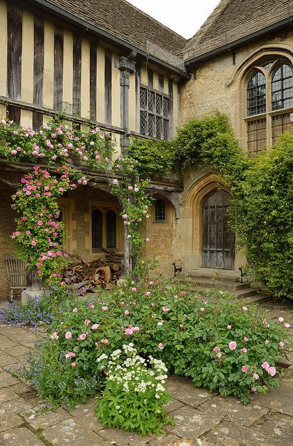 Great Chalfield, a Medieval manor house in Wiltshi...