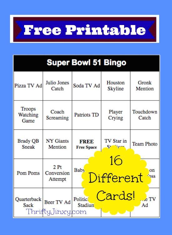 Priceless image inside free printable football bingo cards