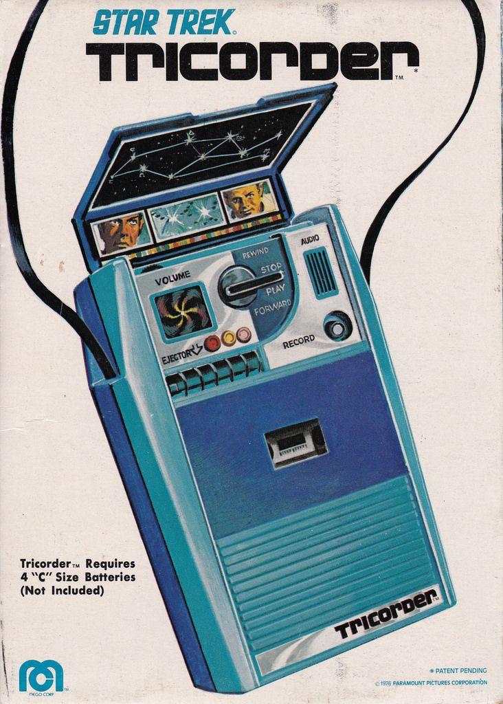 """science70: """" Star Trek Tricorder cassette tape recorder (Mego, 1976). """" More"""