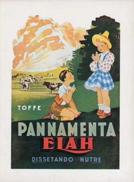 La pubblicità delle caramelle Elah degli anni '30