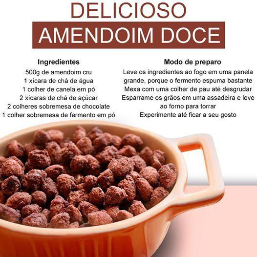 Que tal um delicioso amendoim doce ?? Receita prática e rápida !!! Fique de olho em nossas postagens !!! http://www.atenascalcados.com.br/