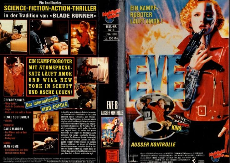 EVE 8 (EVE of DESTRUCTION, NELSON ENTERTAINMENT, 1991), PAL VHS, HIGHLIGHT VIDEO, SAKSA, what is the E.U., FRYE, Sylvia KRISTEL, Fairuza BALK, Lana Del REY, Dylana SUAREZ, Natalie Off Duty, Natalie SUAREZ, Lolita 1997, U.F.A., style inspiration, taide, vampires, vidéothèque, boheemi, hippi, tytöt, metallimusiikki, mallit, feminist, tuliaseet, scène indie, bangs, hipster girl fashion, tyyli ja muoti, musique indé, hipsterit, bohemian girls, cool girl, metal musique, Lord & Taylor, October 8…