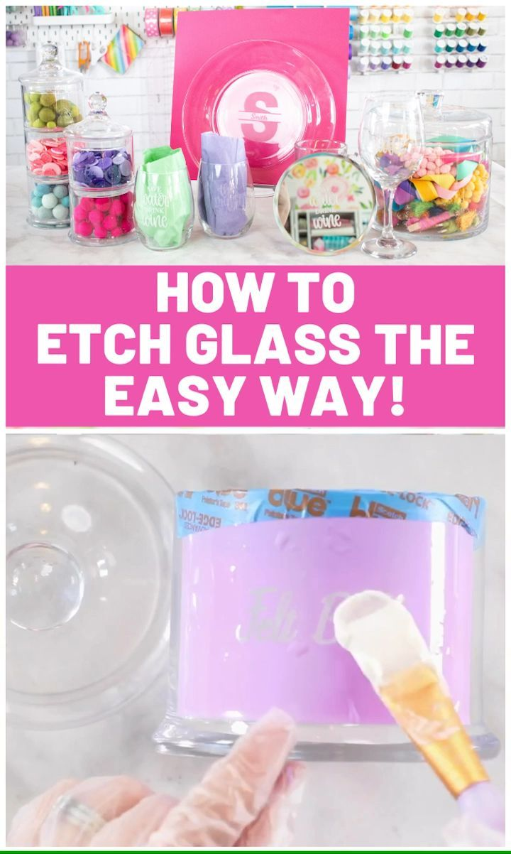 Learn How To Etch Glass Using Armour Etching Cream A Vinyl Stencil In 2020 Etching Cream Cricut Stencils Glass Etching