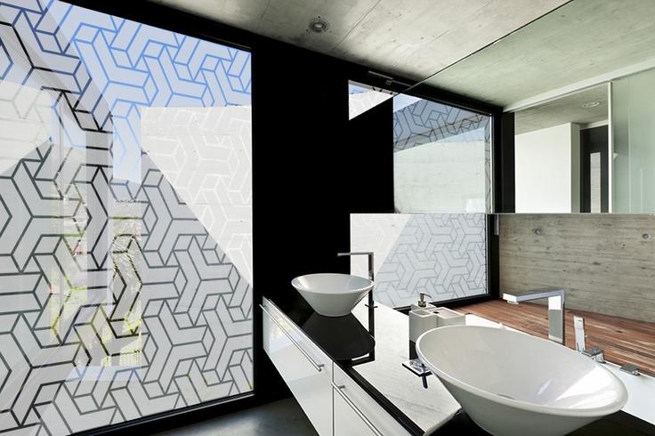 8 best bathroom decorative window film images on pinterest for Decorative windows for bathrooms