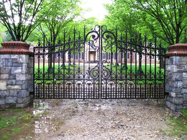 Ornate Iron Automated Estate Entrance Gate Front Gate
