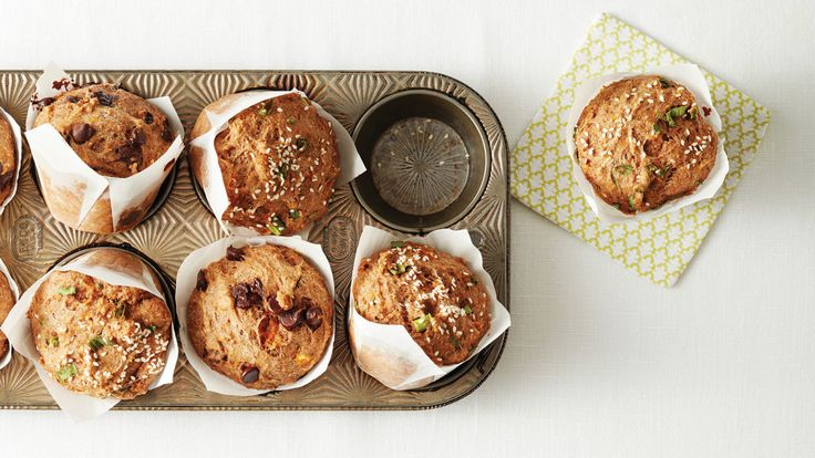 Sweet or Savory Maple Squash Muffins. The base of these muffins is just mildly sweet, meaning you can go one of two ways with your add-ins: Incorporate dark chocolate chips for a sweet version, or add sesame seeds and green onions for a savory spin.