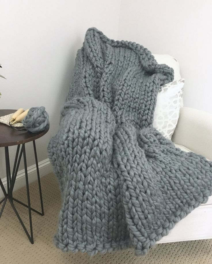 A personal favorite from my Etsy shop https://www.etsy.com/listing/487753833/huge-gigantic-knit-blanket-charcoal-grey