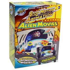 Wild Science has released a new series of Make Your Own Stop Motion Animation Movies.  The addictive fun of claymotion movie making will grab you as you put together and direct your own Alien Movie. #stopmotion #movie #claymation
