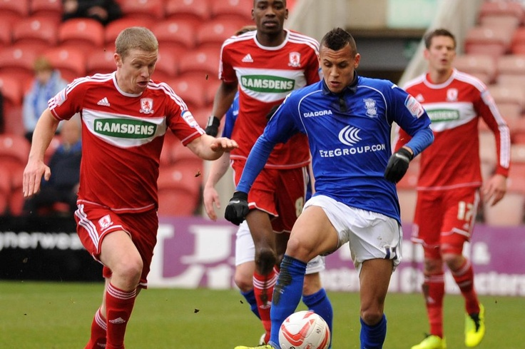 Ravel Morrison in action against Middlesbrough. March 2013. #BCFC