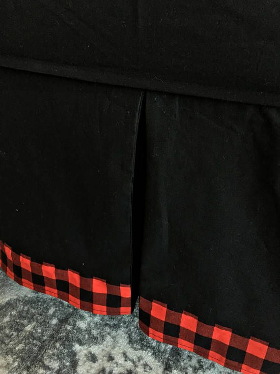 Black Crib Skirt, Red and Black Buffalo Check Crib Skirt, Tailored Crib Skirt, Red Crib Skirt, Baby Bed Skirt, Crib Skirt, Boy Crib Skirt Tailored Crib Skirt made in our adorable black and red and black buffalo check! Our crib dust ruffles are the perfect amount of stylish and we