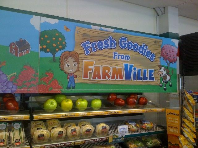 Farmville products in the 7-11