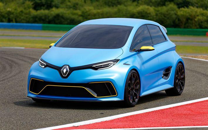 Descargar fondos de pantalla 4k, Renault Zoe, 2018 coches, coches compactos, coches eléctricos, Renault