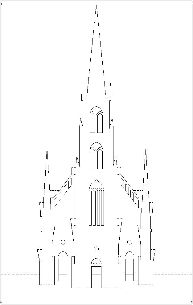 Киригами шаблоны для вырезания архитектура распечатать, плейкаст спасибо дорогая