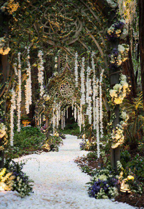 Enchanted Forest Inspired Wedding Ceremony Design